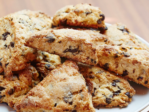 Chocolate Hazelnut Scones