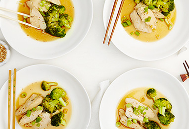 Pan-Steamed Chicken + Broccoli