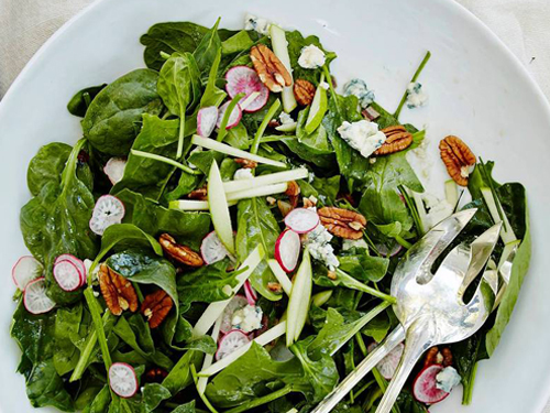 Spinach Salad with Bourbon Vinaigrette