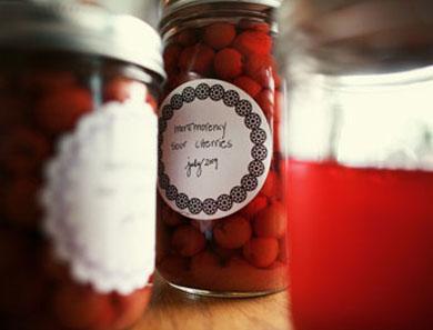Simple Sour Cherries