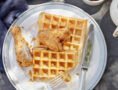 Adobo-Fried Chicken & Waffles