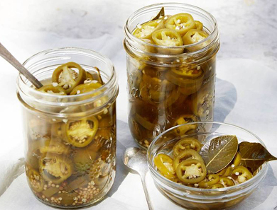 Bourbon-Pickled Jalapeños