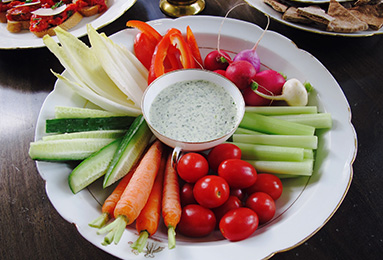 Crudité with Green Goddess Dip