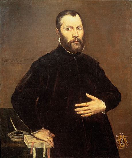 El Greco, Portrait of a Gentleman, 1570. Courtesy of Adam Williams Fine Art