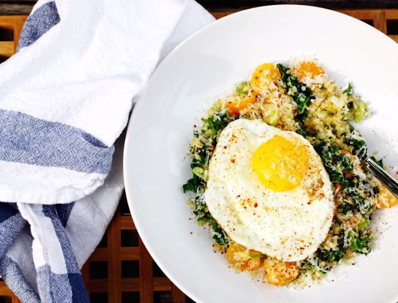 Kale Quinoa Breakfast Bowl