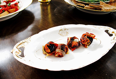 Prosciutto-Wrapped Prunes
