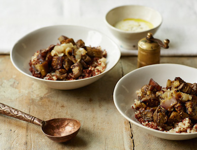 Roasted Za'atar Eggplant Bowl