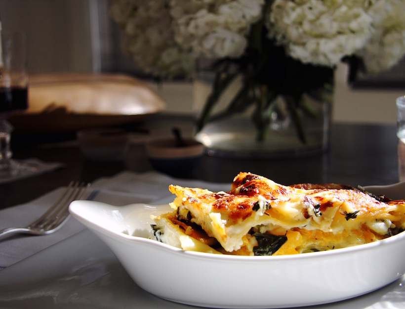 Kale and Butternut Squash Lasagna