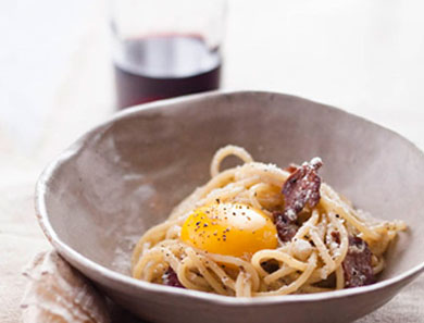 Spaghetti alla Carbonara / Spaghetti in the Style of the Coal Delivery Guy's Wife