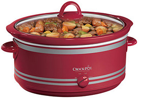 Crock-Pot Manual Slow Cooker with Travel Bag, Red