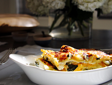 Kale and Butternut Squash Lasagna