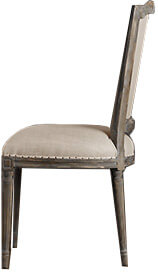 Vintage French Nailhead Chair (The comfort of a high, upholstered back but done in a way that doesn't feel overly fancy or formal.)