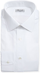 Charvet Solid Poplin Dress Shirt