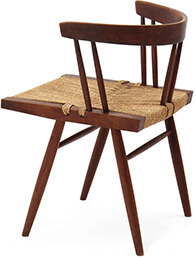 George Nakashima Grass Seated Chairs
