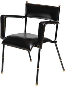 Jacques Adnet Leather Armchair