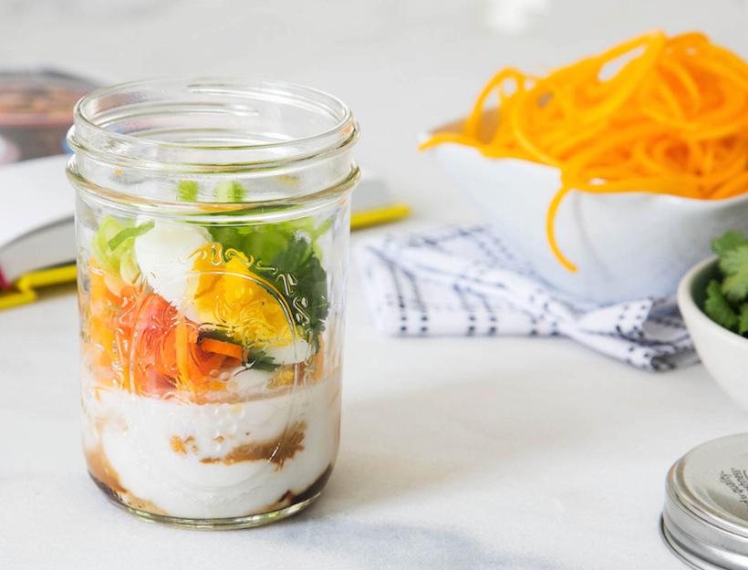 Curried Egg Squash Noodle Pot