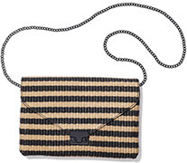 Loeffler Randall Striped Raffia Clutch