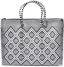 Truss Woven Tote in Rhombus Print