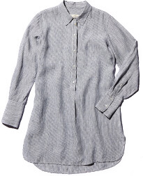 Nili Lotan Striped Tunic Dress