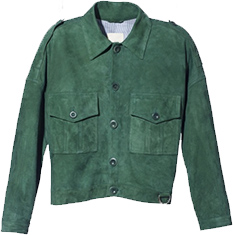 BAND OF OUTSIDERS Suede Military Jacket