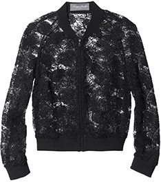 MONIQUE LHUILLIER LACE BOMBER JACKET