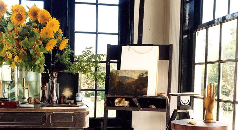 Paint your window frames a dark color.
