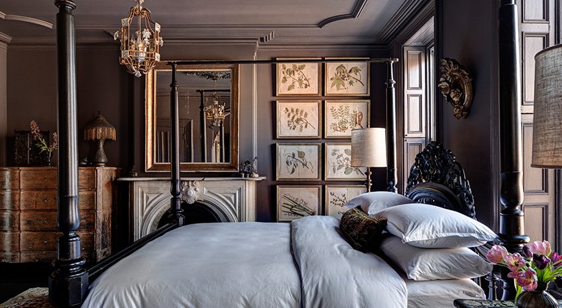 Paint your bedroom a dark soothing color.