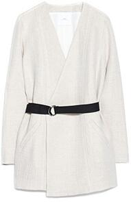 MANGO Wrap Linen-Blend Coat