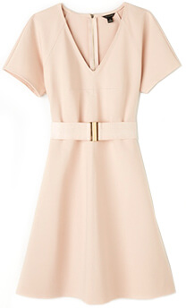 ANN TAYLOR Belted Ponte Dress