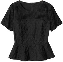 GAP Eyelet Embroidered Peplum Top