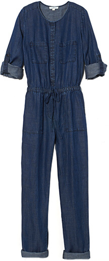LOFT Chambray Jumpsuit