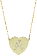 JENNIFER MEYER Initial Heart Pendant Necklace