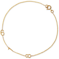 MAYA BRENNER Designs Mini 3-Number Bracelet