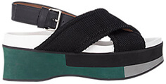 MARNI Colorblock Platform Sandals