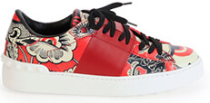 VALENTINO Printed Leather Sneaker