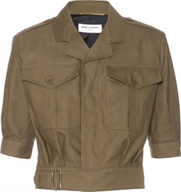 Saint Laurent Cropped Cotton-Twill Jacket