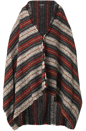 Isabel Marant Idoa striped blanket coat, Matches Fashion
