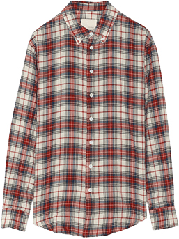 Band of Outsiders Plaid woven cotten shirt, Net-A-Porter