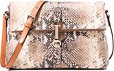 MASSIMO DUTTI Snakeskin Messenger Bag