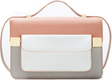 ZARA Color Block Messenger Bag