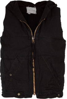 Greg Lauren The Black Puffy Tent Vest, Barneys