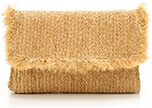 BOP BASICS RAFFIA BRAID CLUTCH