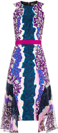 PETER PILOTTO FLUX CONTRAST CREPE DRESS