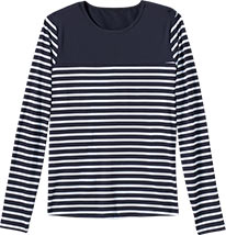 Stripe Rash Guard Tee