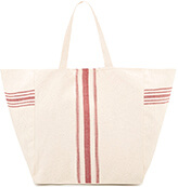 MANGO Striped Panel Bag