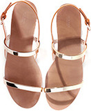 Zara gold plated sandals
