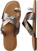 Gap metallic color block sandals