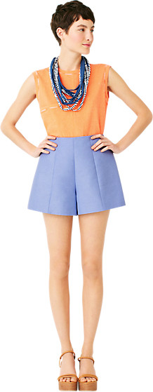 Kate Spade Saturday high-waisted cotton/linen shorts