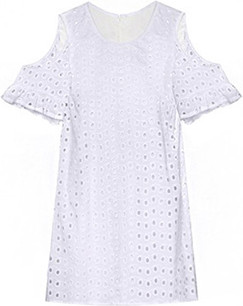 Pixie Market white eyelet dress