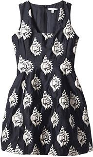 Shell Jacquard Dress